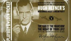 The Original Invitation to Hugh Hephner's Midsummer's Night Dream Party